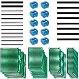 Anpro 50st printplaat kit 20st PCB Universal Board 5x7 4x6 3x7 2x8cm Dubbelzijdige geperforeerde rasterplaat geperforeerde pl