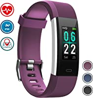Pulsera Monitor de Actividad Pulsómetro y Podómetro para Mujeres Impermeable IP67, con Bluetooth Contador de Pasos y...
