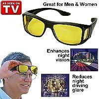 Pramukh Enterprice Wrap Around Day and Night HD Vision Goggles Anti-Glare Polarized Unisex Sunglasses Combo Pack