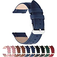 Fullmosa 14mm,16mm,18mm, 20mm, 22mm, 24mm Bracelet de Montre en cuir véritable, Cross Montre Bracelet Homme/Femme à…