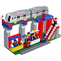 Luxula Metro Station 355 pcs Interlocking Building Blocks Set for Kids (Multicolor)