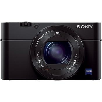 """Sony DSC-RX100M3 Fotocamera Digitale Compatta, Cyber-shot, Sensore CMOS Exmor R da 1"""", 20.1 MP, Obiettivo Zeiss Vario-Sonnar T con Zoom Ottico 2.9x, Nero"""