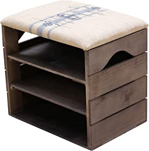 LIZA Line® Schuhregal mit Sitzfläche Schuhschrank Holz