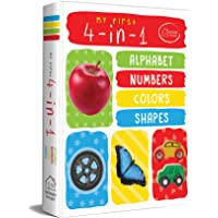 My First 4 in 1 Alphabet Numbers Colours Shapes: Padded Board Books