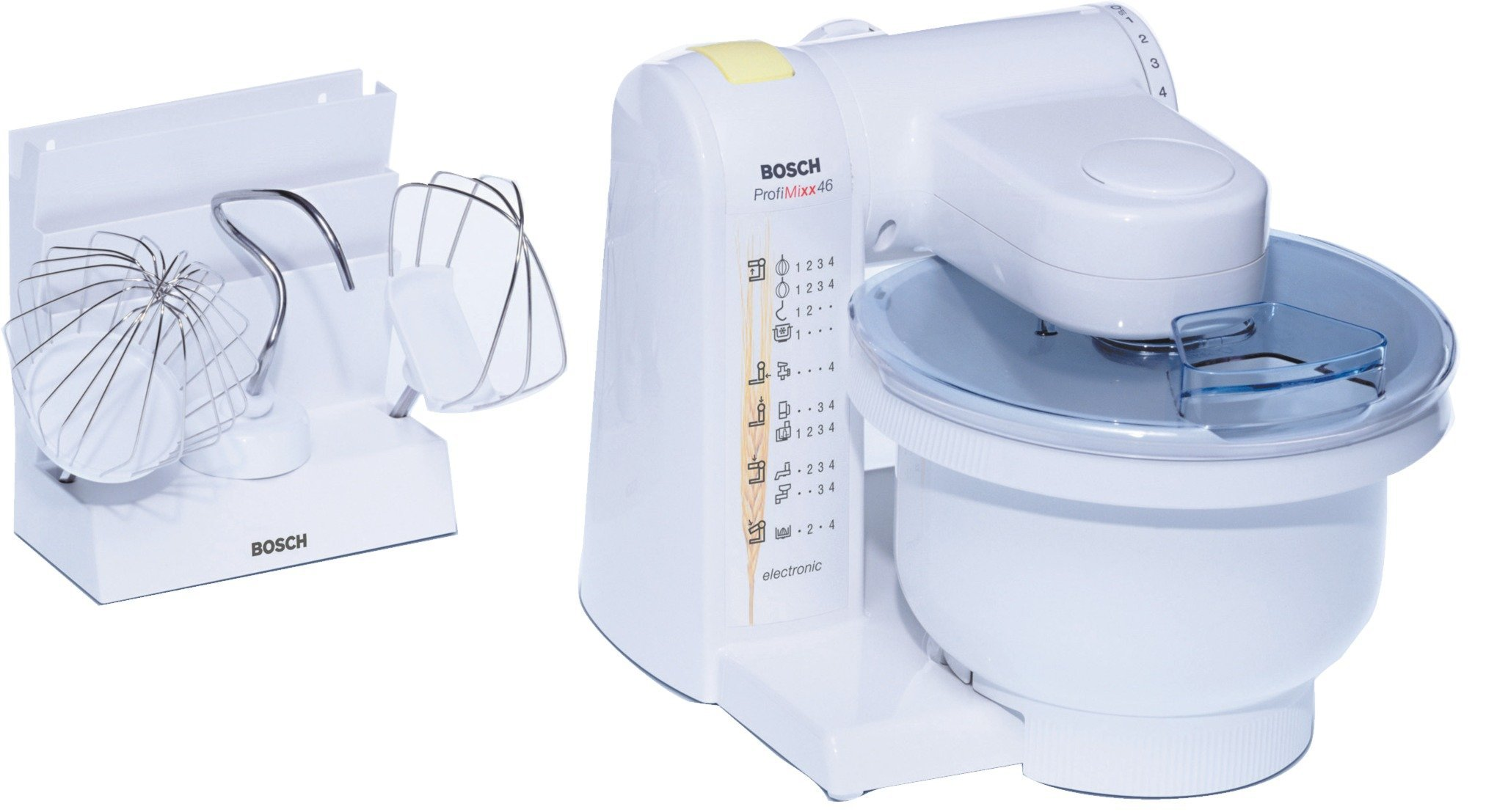 Bosch-MUM4600-Kchenmaschine-MUM4-39-Liter-39-Liter-Rezept-Buch-wei