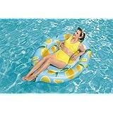 """Bestway, 69"""" x 48""""/1.76m x 1.22m Scentsational Lemon Pool Float 26-43392"""