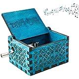 N\O Carillon in Legno,Carillon a Manovella in Legno Carillon in Legno Intagliati a Mano Compleanno, Natale, Regalo di San Val
