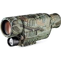 """Monoculaire Vision Nocturne, Télescope Infrarouge Numérique Rechargeable 8X40 pour Adulte 1,5"""" LCD Photo/Vidéo…"""