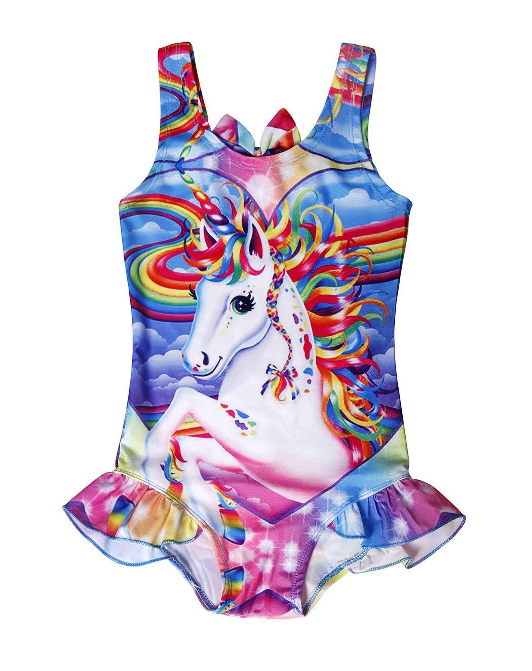 AmzBarley Unicorno Costumi Interi da Ragazza Bambina Costume da Bagno Mare Piscina Nuoto Nuotare Abbigliamento da… 3 spesavip