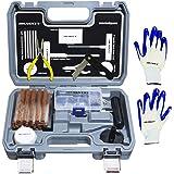 60 pcs kit de réparation de pneus professionnel I Kit de dépannage pour voitures, camions, motos, QUAD, VTT, tracteurs, voitu