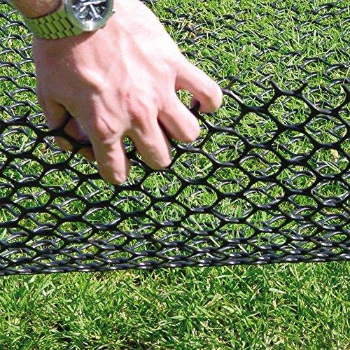 TurfProtecta® Rasenschutzgitter Standard 550g/m², 2m x 10m, grün + 100 Befestigungshaken aus Stahl zum Paketpreis. 9,98 Euro Preisvorteil gegenüber Einzelkauf