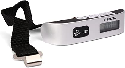 Belita Bps-L-1161 Upto 50 Kg Silver Digital Portable Luggage Scale
