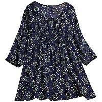 Darringls Maglietta Donna Manica Corta Estivi T-Shirt Cotone e Biancheria Maglie Donna Taglie Forti Top Tumblr Camicia…