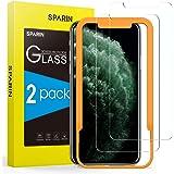SPARIN 2 Pack Protector de Pantalla Compatible con iPhone 11 Pro, iPhone XS y iPhone X, Sin Cobertura Toda, Cristal Templado