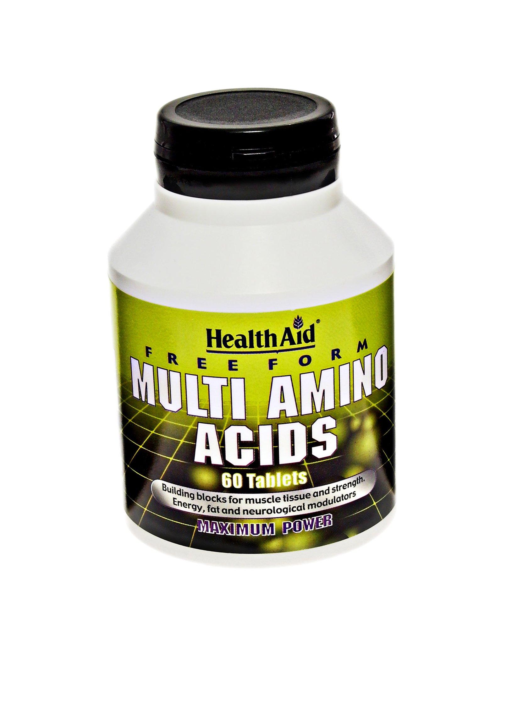 HealthAid Free Form Multi Amino Acids – 60 Tablets