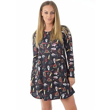Long sleeve swing dress uk size