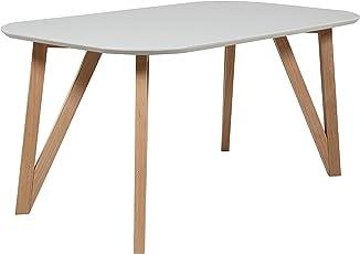 Fesselnd SalesFever® Esszimmertisch Aino, Küchentisch In Matt Weiß, 140 X 90 Cm,