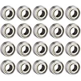 sourcing map 683ZZ Ball Bearing 3mm x 7mm x 3mm Double Shielded Deep Groove Bearings, Carbon Steel 20pcs