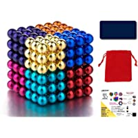 LureTech® Magnetic Balls Intelligent Stress Reliever Toys, Pack of 216 Pcs, 5mm, Multi-Color (Inside Box 4 Items)