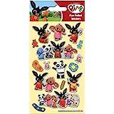 Paper Projects 01.70.06.136 Bing Bunny błyszczące naklejki wielokrotnego użytku, 19,5 cm x 9,5 cm