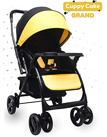 R for Rabbit Cuppy Cake Grand Stroller/Pram -Smart Elegant Baby Stroller and Pram for Babies (Yellow Black)