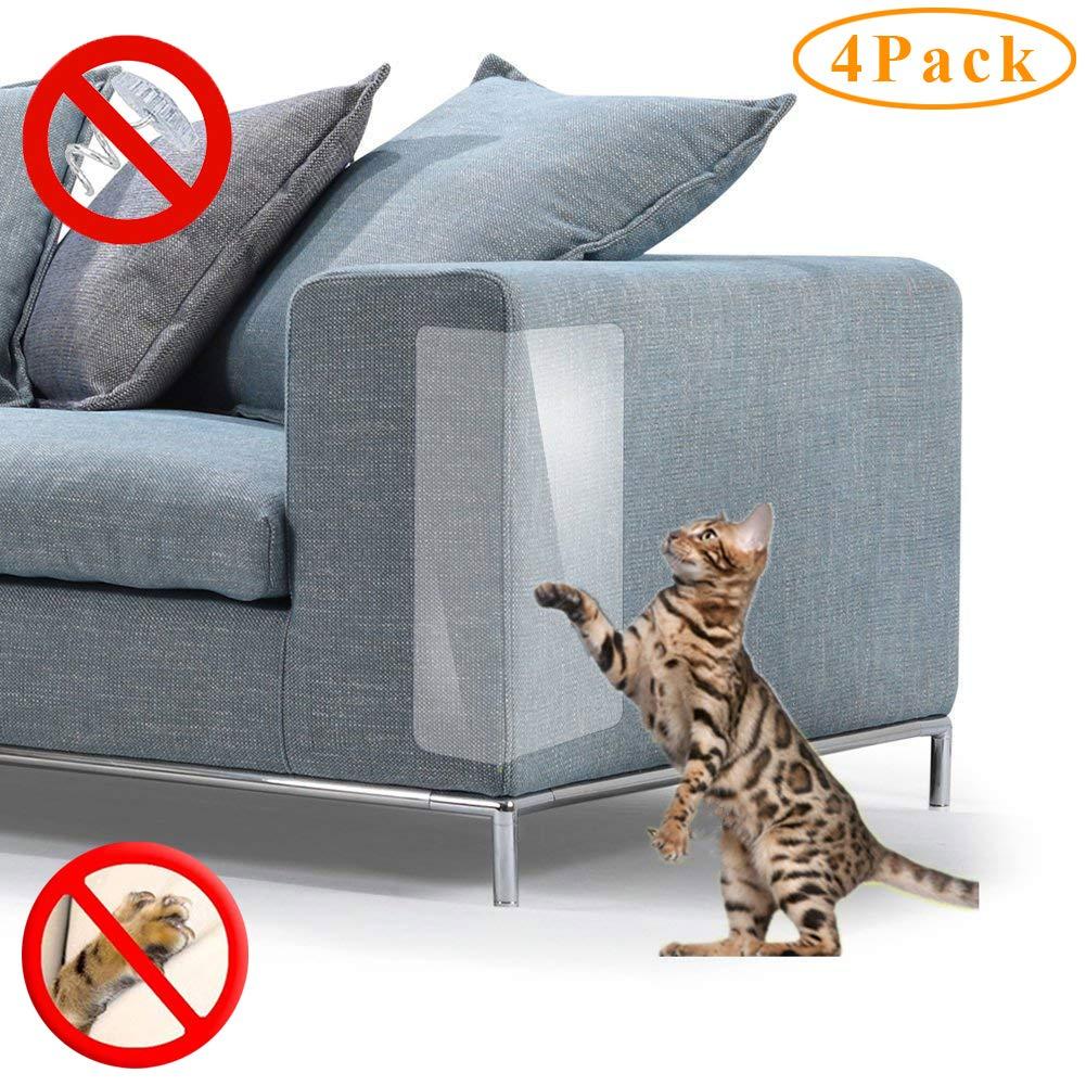 PetIsay Protector de Muebles para Gatos, Protección Contra Arañazos, Protector de Sofá para Sofá, Juego de Fundas, Plástico, 18»Long*12»Wide(2019)