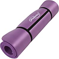 Physionics Pilates Gymnastikmatte Fitnessmatte Bodenmatte Yogamatte in der Größe 180 x 60 cm x 1,5 cm oder 190 x 100 x 1,5 cm mit Farbwahl
