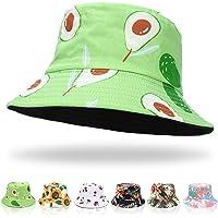 Keho Women Bucket Hats - Print Bucket Hat Summer Fisherman Hat Cotton Reversible Sun Hat Beach Hat for Women Men Teens