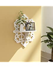 Home Sparkle Carved Shelf Engineered Wood (White)