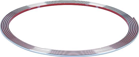 hr-imotion selbstklebende Chrom-Zierleiste - 365cm x 3,5mm [3M Material   Zuschneidbar   Witterungsbeständig   Hochflexibel] - 12010001