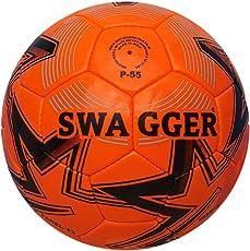 Swagger P-55 PU Football, Size 5 (Orange)