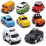 onehous Macchinine Giocattolo per Bambini, Mini Metallo Auto Giocattolo Tirare Indietro Auto da Corsa Camion Giocattoli 12 Pe
