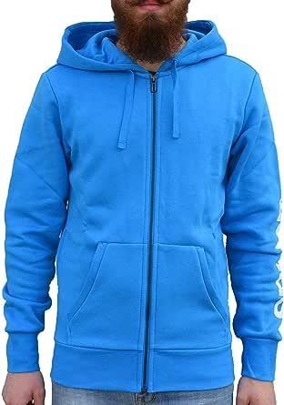 adidas Men's Essentials Linear Full Zip Hoodie Jacket