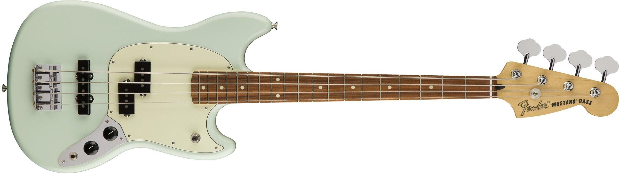 Mustang Bass PJ Pau Ferro Fretboard Sonic Blue