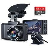 "JOMISE F3S Dual Dash Cam FHD 1296P & 1080P Mini Dash Cam, 2.35"" IPS Display Car Camera with 170° Wide-Angle Lens, Super Night"