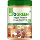 bGREEN by Muscleblaze Vegan Protein Peanut Butter, 38g Vegan Protein, All Natural Vegan Butter With Pea and Brown Rice Protei