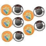 Porta badge per vaccini da 5 pezzi, spilla da 2,28 pollici, sono stato vaccinato per spilla a bottone, spilla per spilla 2021