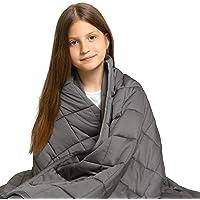 Dreamzie - Couverture Lestée 100x150, 2 kg - Adapté pour Enfant 17-33kg (Lits Simples) - Housse en Bambou - Reduit…