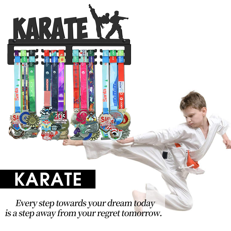 WEBIN Gancio in Metallo per trofei Sportivi espositore per medaglie di Karate per Taekwondo premi