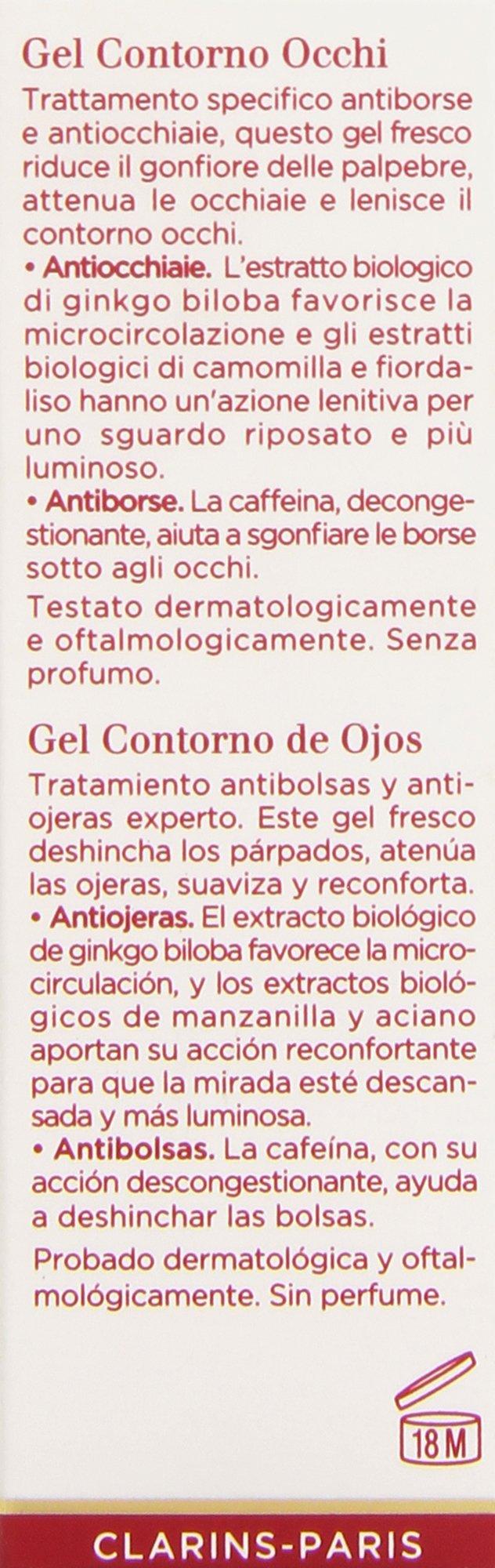 Clarins – Gel contorno de ojos – Antiojeras, Antibolsas – 20 ml