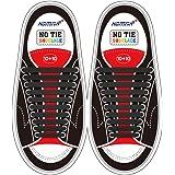 HOMAR No Tie Lacci per scarpe per bambini e adulti - Impermeabile in silicone elastico piatto Laces Athletic scarpa da corsa