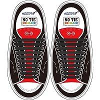 HOMAR No Tie Lacci per scarpe per bambini e adulti - Impermeabile in silicone elastico piatto Laces Athletic scarpa da…