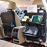 Car Backseat Organizer Car Trash Can Backseat Car Organizer, Protector Kick Mats Table Tray Foldable Dining Table with Tablet