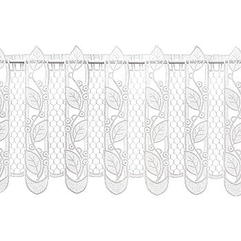 bistrogardine countrystyle 40 cm hoch x 80 cm breit wei spitze landhausstil. Black Bedroom Furniture Sets. Home Design Ideas