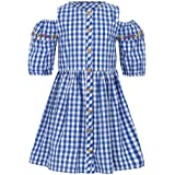 Life by Shoppers Stop Girls Round Neck Check Pleated Dress