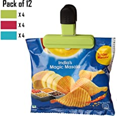 HOKIPO® Bag Clips – for Quick and Easy Re-Sealing of Opened Food Bags, Random Colors