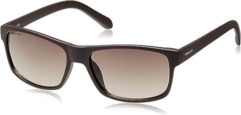 Fastrack Gradient Rectangular Unisex Sunglasses (P288BR1 Brown)