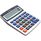 OFFIDIX Basic Office Calculators,Solar and Battery Dual Power Electronic Calculator Portable Large LCD Display Calculator Big