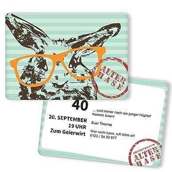 Einladungskarten Zum Geburtstag Alter Hase 25 Stuck Inkl