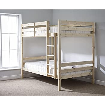 Double Bunkbed 4ft 6 Twin Bunk Bed Very Strong Bunk